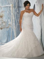 Sweetheart Lace And Tulle Bridal Gown Mori Lee 3143