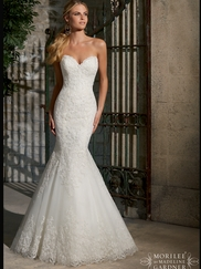 Sweetheart Lace Fit And Flare Mori Lee Wedding Dress 2713