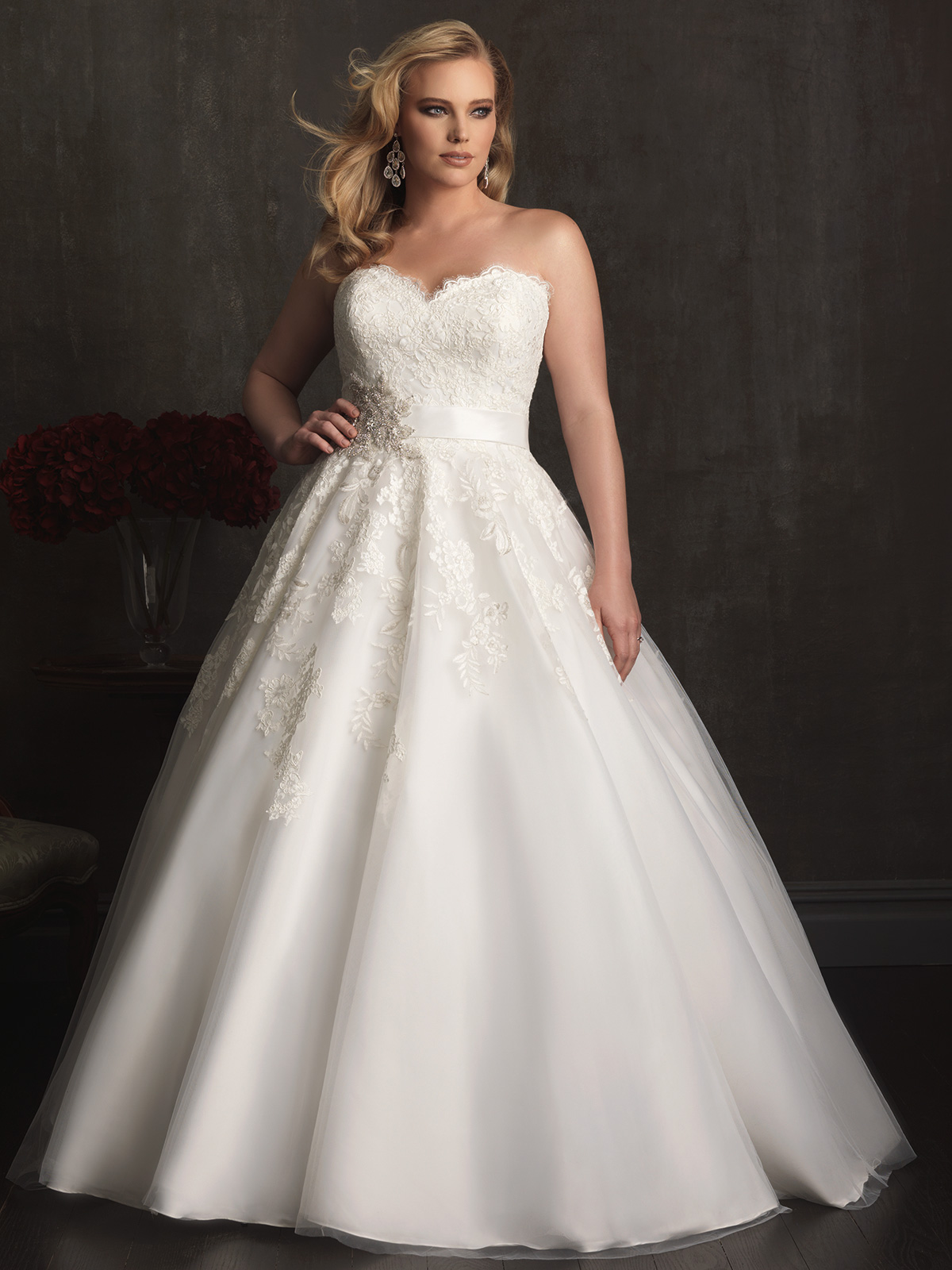 Sweetheart Ball Gown Allure Women Bridal Gown W320 ...