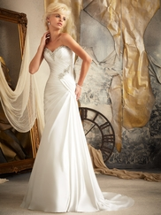 Sweetheart Pleated Bridal Gown Mori Lee 1919