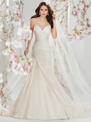 Sweetheart Pleated Bridal Gown Sophia Tolli Cersei Y11401