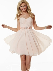 Sweetheart Pleated Pretty Maids Bridesmaids Dress 22610