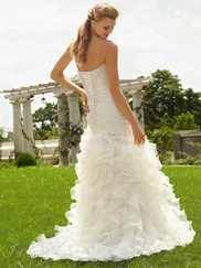 Sweetheart Ruched And Beaded Bridal Gown Mori Lee 6743