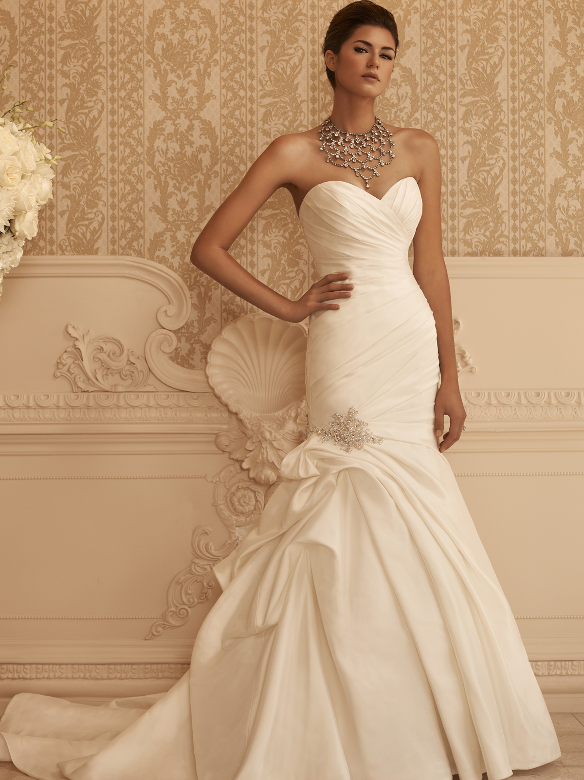 Sweetheart Fit And Flare Casablanca Bridal Gown 2106