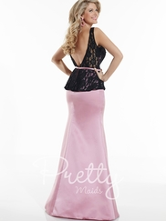 Tank Style Lace Pretty Maids Bridesmaids Dress 22621
