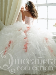 Tiffany 26804 Quinceañera Collection Ruffled Skirt Ball Gown
