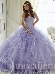 Tiffany 26805 Quinceañera Collection Ruffled Skirt Ball Gown