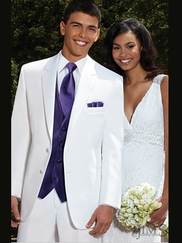 Troy White Prom Tuxedo by After Six