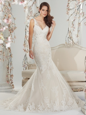 V-neck Beaded Lace Bridal Gown Sophia Tolli Margaery Y11400