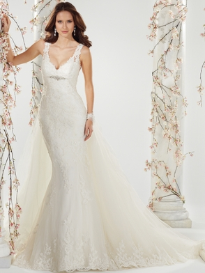 V-neck Lace And Tulle Bridal Gown Sophia Tolli Brienne Y11403