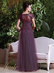 V-neck Lace Mother Of The Bride Dress Jade Couture K168020