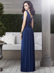 V-neck Ruched Bridesmaid Dress Dessy 2913