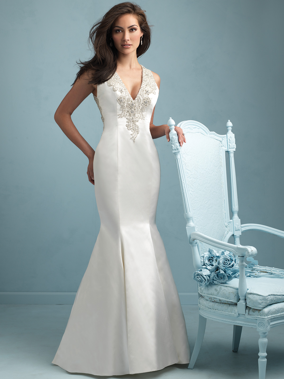 Perfect Satin Mermaid Gown With Sweetheart Neckline Composition ...