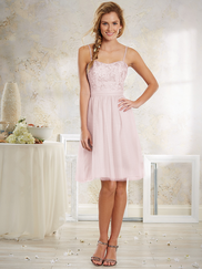 Vintage Alfred Angelo 8633S Embroidered Bridesmaids Dress