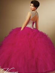 Vizcaya Quinceañera 89054 Embroidered Bodice Ball Gown