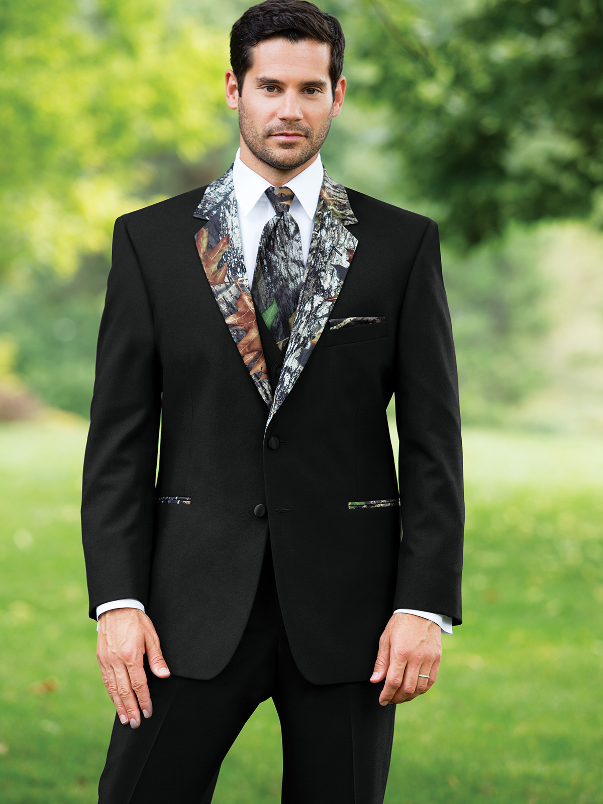 wedding tuxs: Camouflage Wedding Tuxedo: Modern Fit