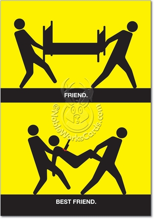 Funny Wholesale Friendship Card Friend Best Friend Humor Greeting Thomas Fuchs