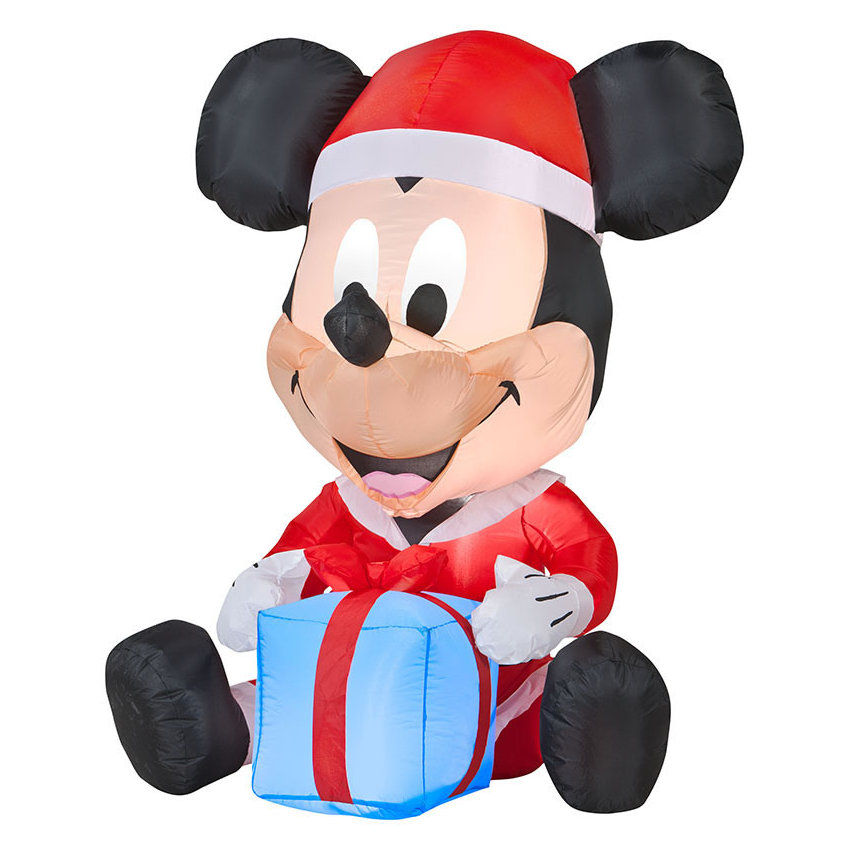 Airblown Mickey With Present