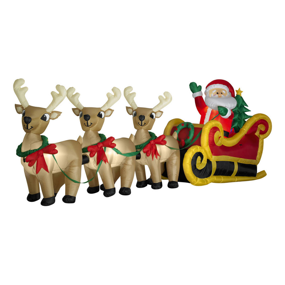 Santa Sleigh W Reindeer 1 Pictures to pin on Pinterest