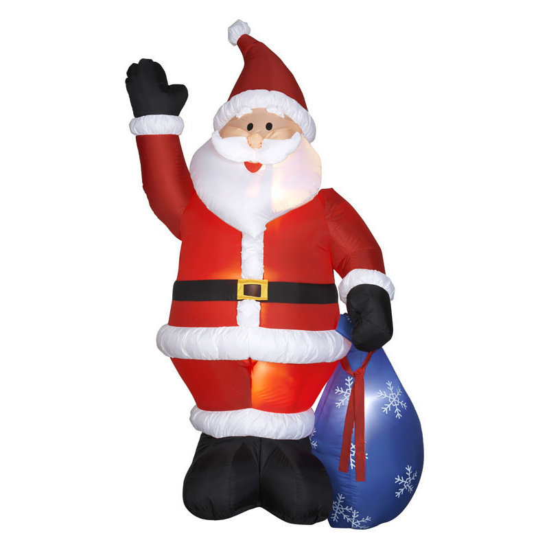 Airblown Santa With Gift Sack