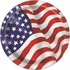 American Flag Paper Plates - 8 5/8""
