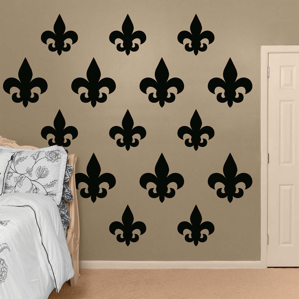 black fleur de lis collection realbig wall decal fleur de lis simple silhouette wall sticker creative multi