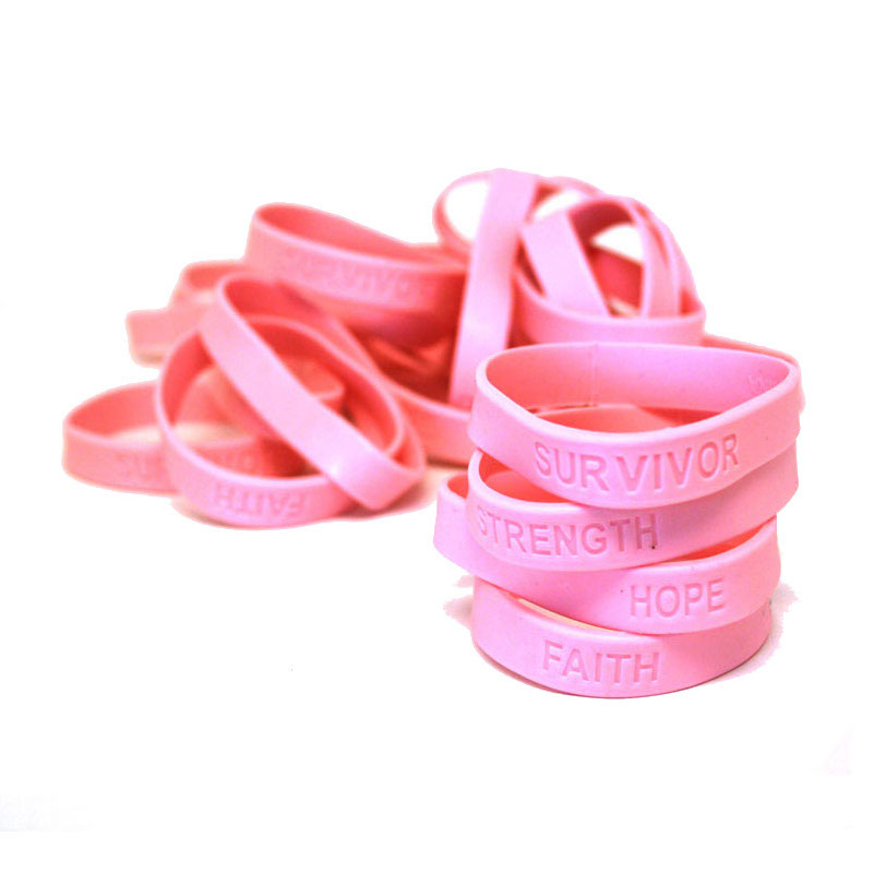 Pink Ribbon Sweatband Wristband Suddora