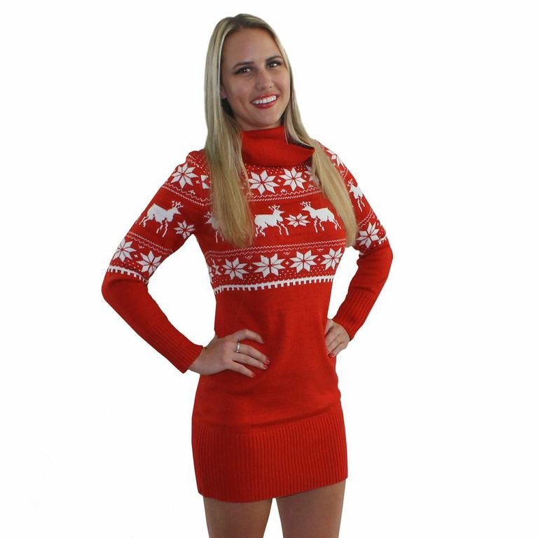Ugly Christmas Sweater Dress For Sale Bronze Cardigan