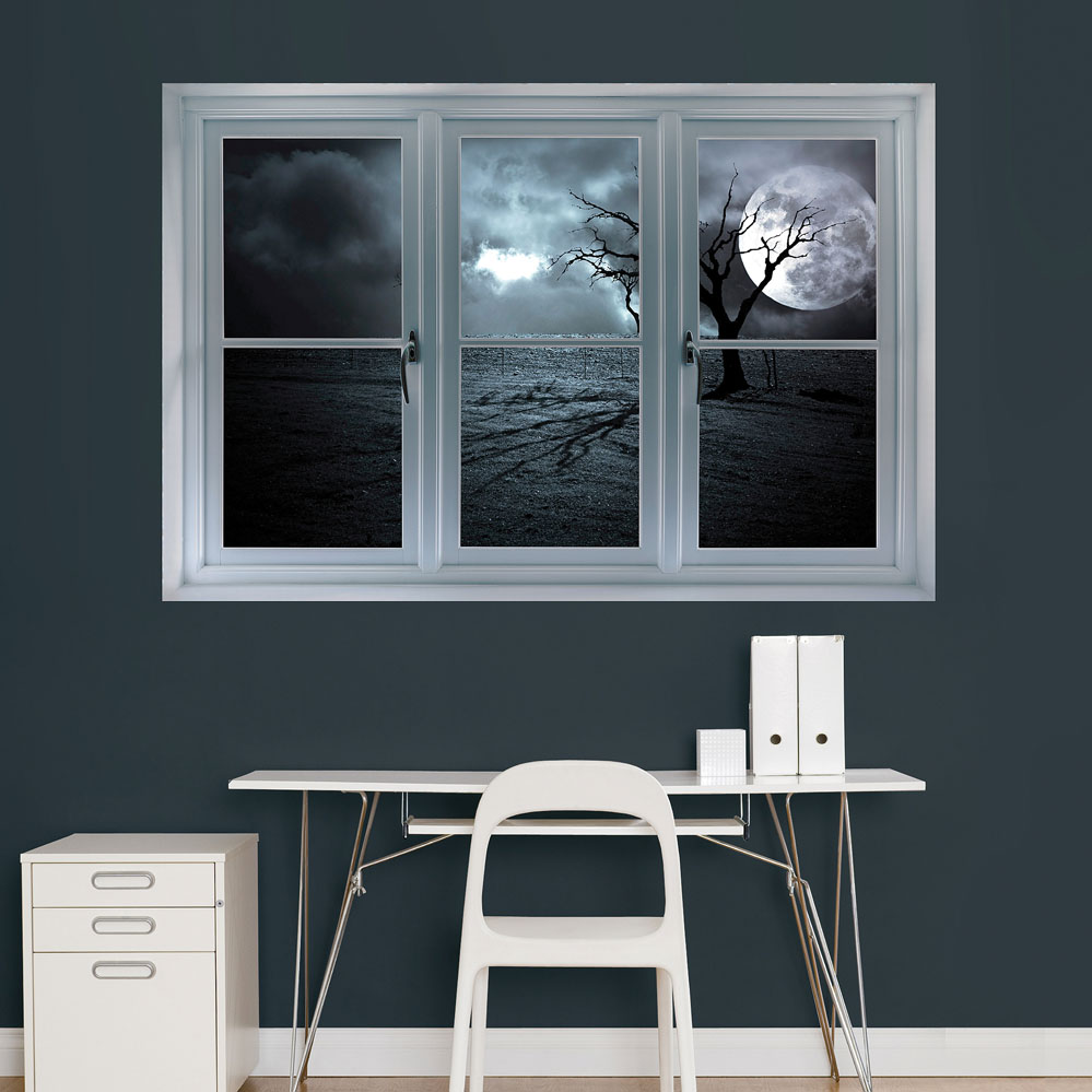 Full Moon Instant Window Realbig Wall Decal