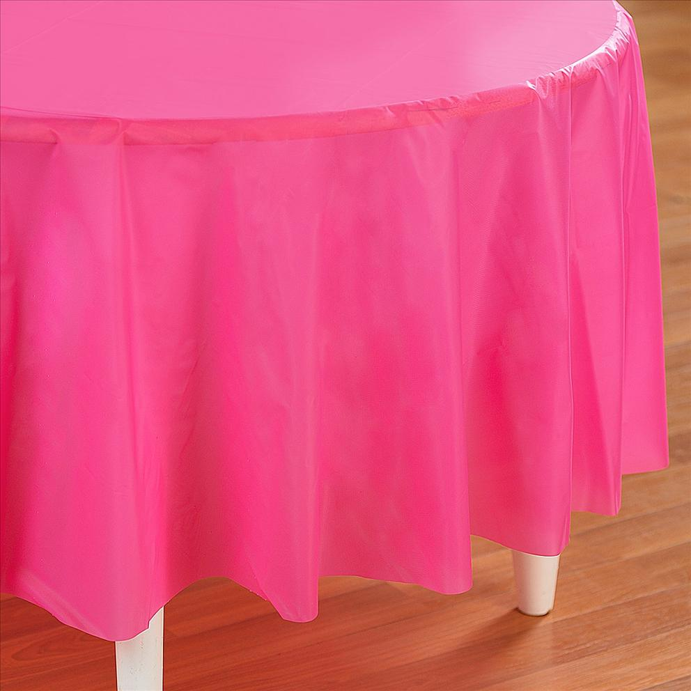Table Cloth For Round Table Pink Plastic Table Cover Round