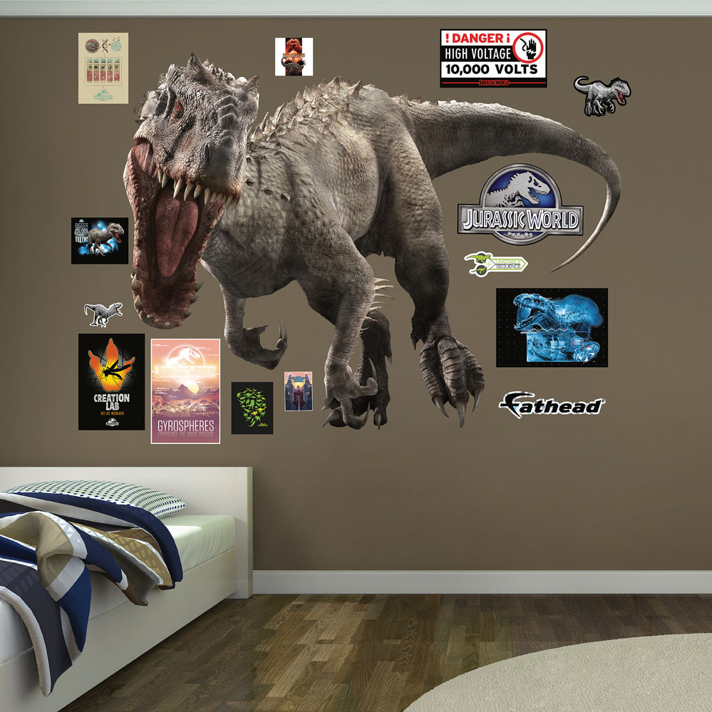 fathead wall decal roselawnlutheran indominus rex jurassic world fathead wall decals click to enlarge rex jurassic world fathead