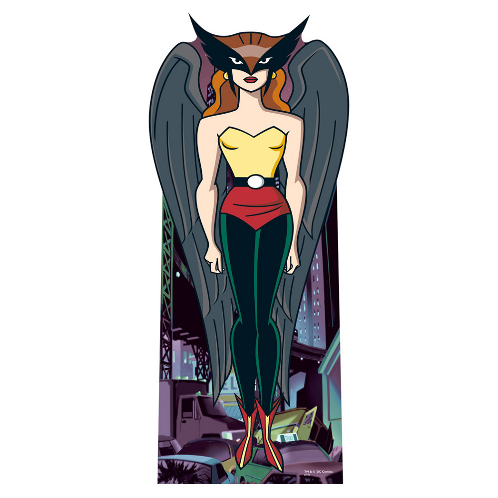 Hawkgirl: Lifesized Hawkgirl Cartoon Standup