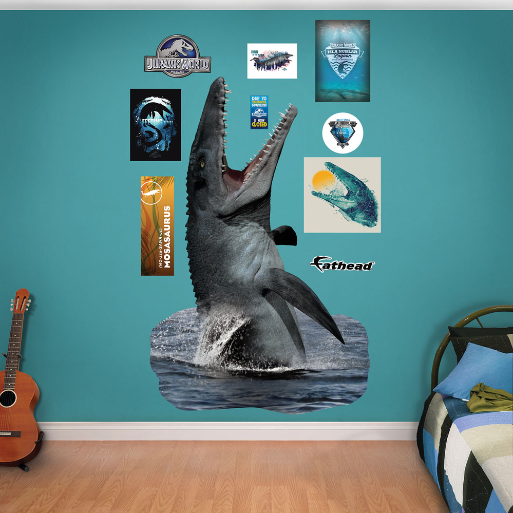 ... mosasaurus juric world fathead wall decals ...