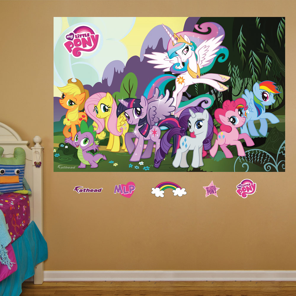 my little pony mural realbig wall decal my little pony big wall mural decals twilight sparkle room