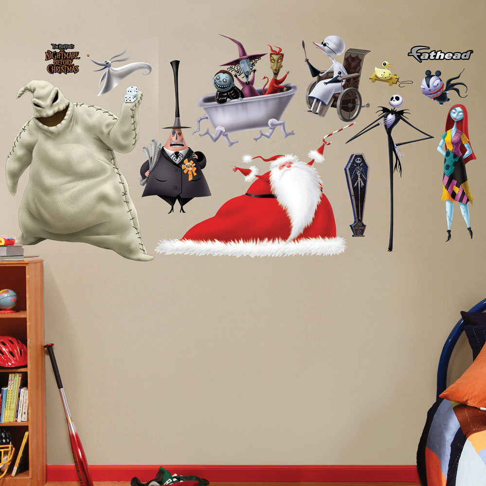 nightmare before christmas collection wall decal. Black Bedroom Furniture Sets. Home Design Ideas