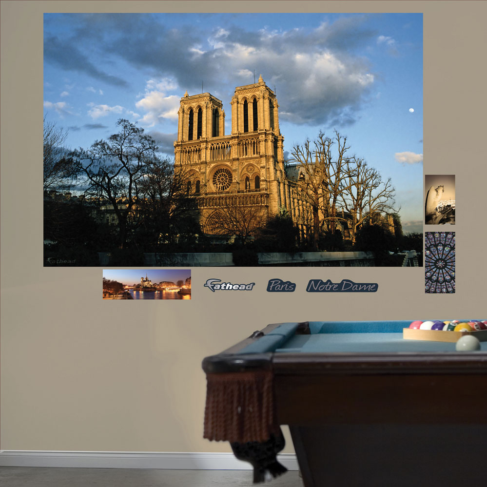 notre dame paris mural realbig wall decal