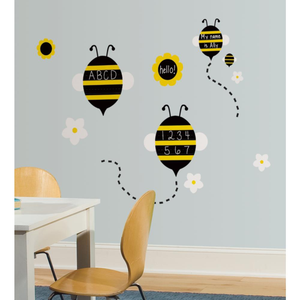 OneDecor Spelling Bees Chalk Peel And Stick Decal