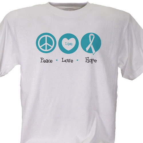 Peace Love Hope Cancer Awareness T-Shirt