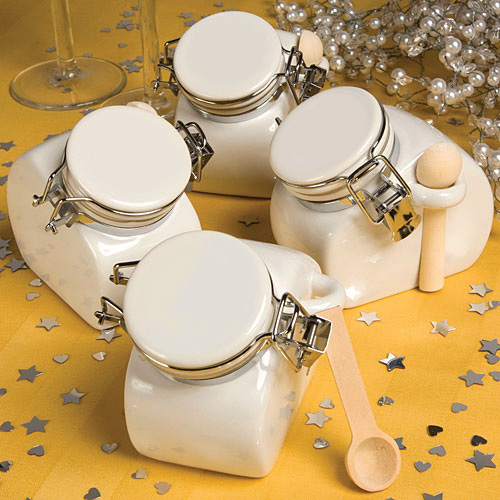 Perfectly Plain Collection Ceramic Jar Favors