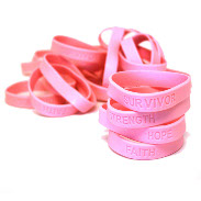 Pink Ribbon & Breast Cancer Awareness Bracelets