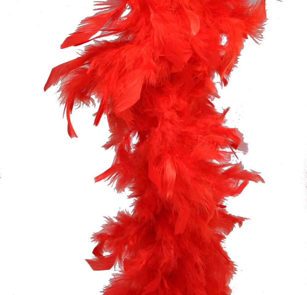 Red Feather Boa 6 60 Grams