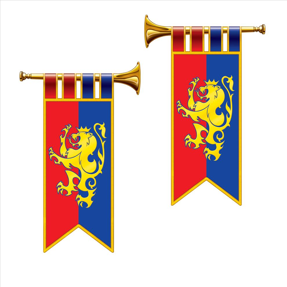 Toys r us christmas decorations uk - Royal Trumpet Banner Cutouts