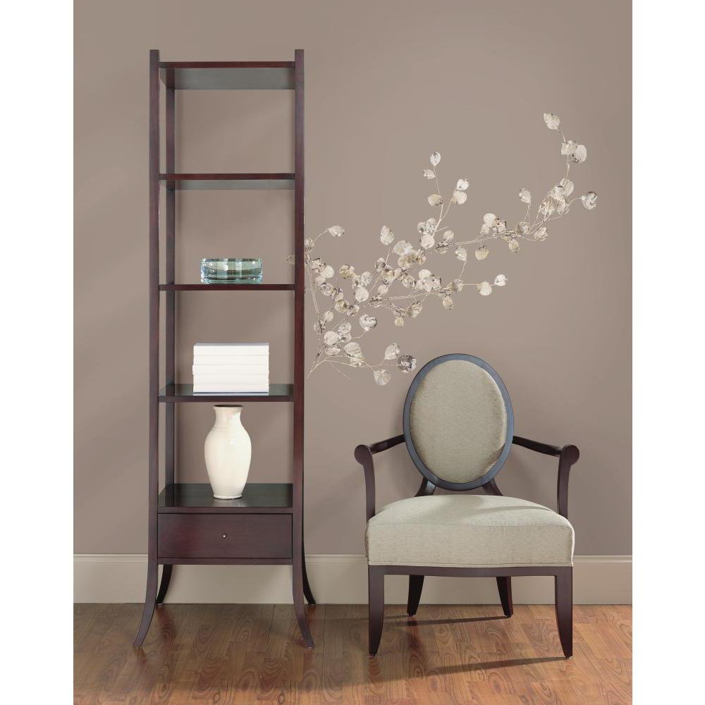 Silver dollar branch peel and stick wall decal