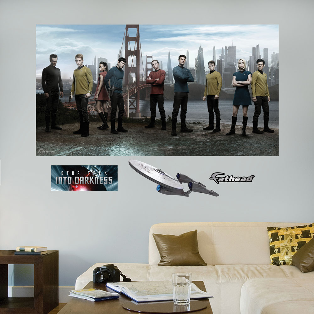 ... Trek Wall Mural Trek Into Darkness Mural Realbig Wall Decal ... Part 63