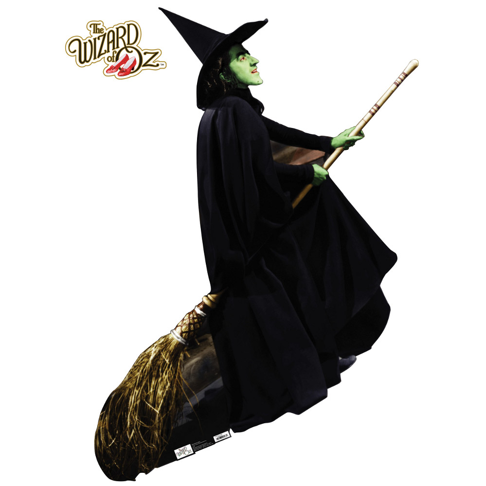 Wicked Witch Of The West Flying On Her Broom Wicked Witch - Wizard ...