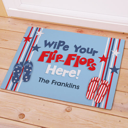 Wipe Your Flip Flops Here Stars Doormat