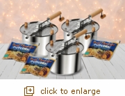 3 Pack Stainless Steel Combo: Featuring the Stainless Steel Whirley Pop