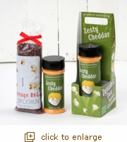 Dynamic Duo Popcorn Gift Set - Zesty Cheddar Meets Vintage Red