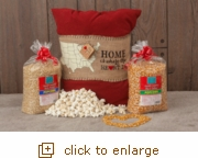 Home Is Where the Popcorn Is Pillow Wrap Set