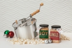 Silver Whirley-Pop: Joy, Jingle and a Popcorn Popper Gift Set